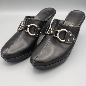 Cole Haan Bridle Bit Leather Mules Size 9.5
